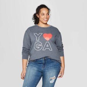 Love Yoga Graphic Workout Sweatshirt